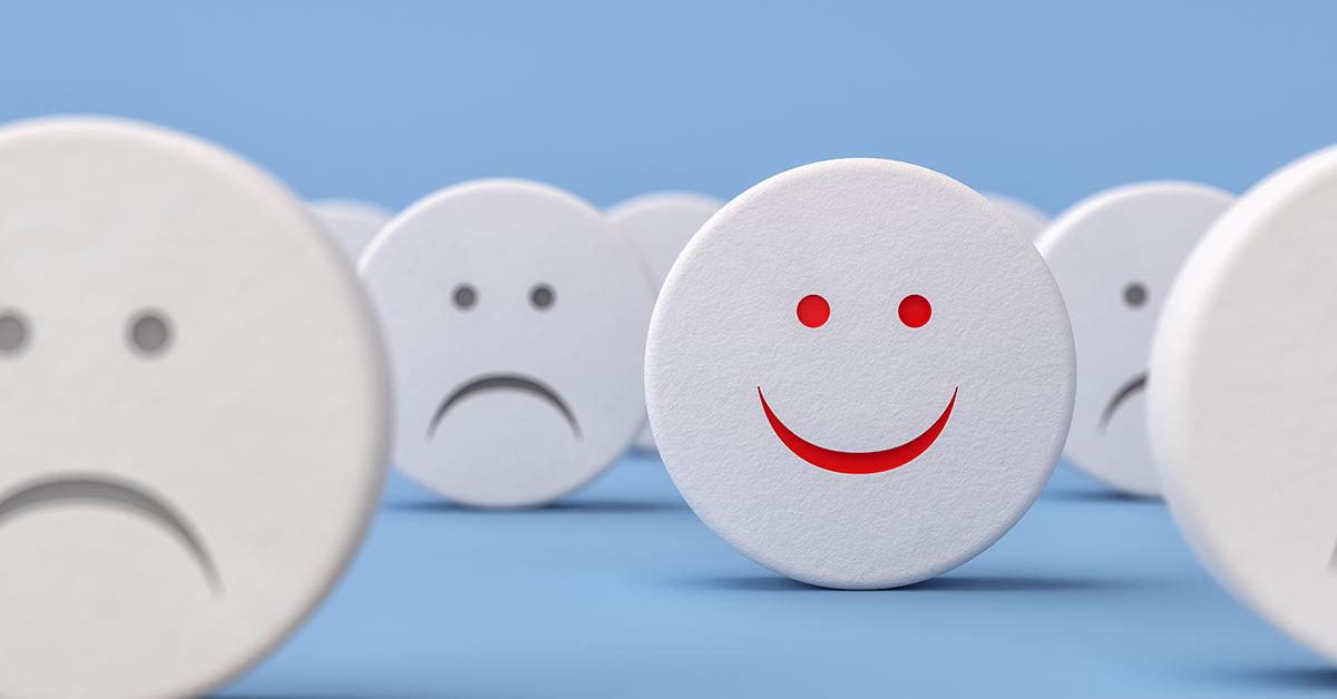 visages heureux